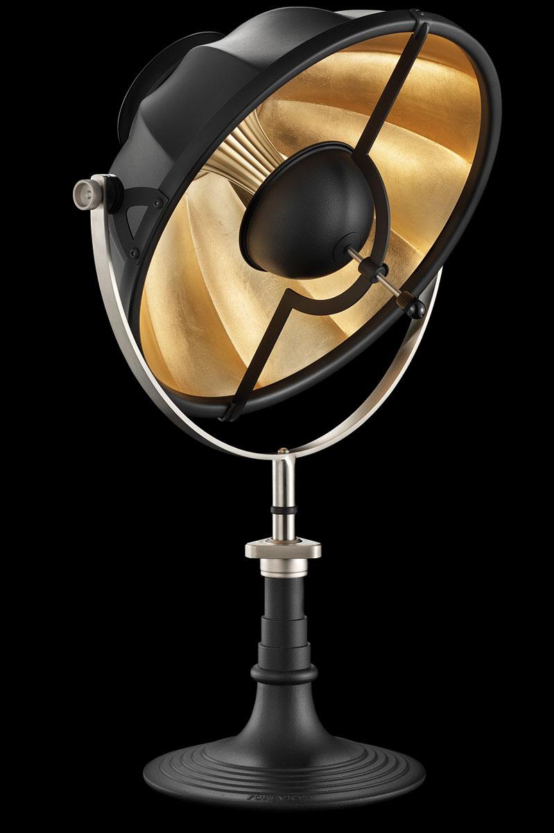 Lámpara de mesa Fortuny Armilla 41 negra y pan de oro