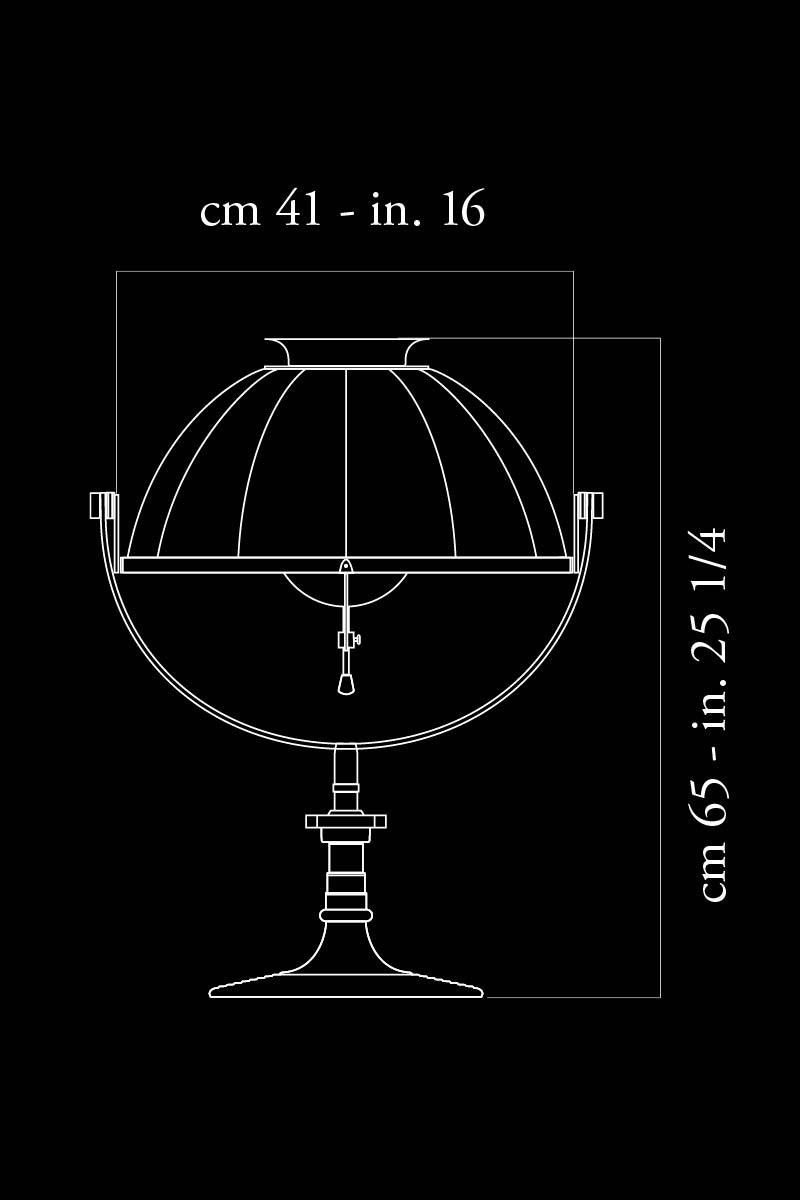 Lámpara de mesa Fortuny Armilla 41 dimensiones