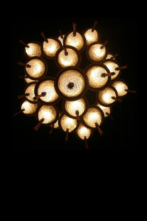Lámpara de cristal Cesendello Cascade vista inferior