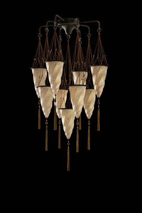 Lámpara de araña Fortuny Cesendello Chandelier en cristal