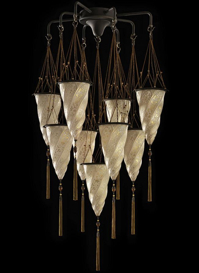 Fortuny Cesendello Chandelier glass lamp