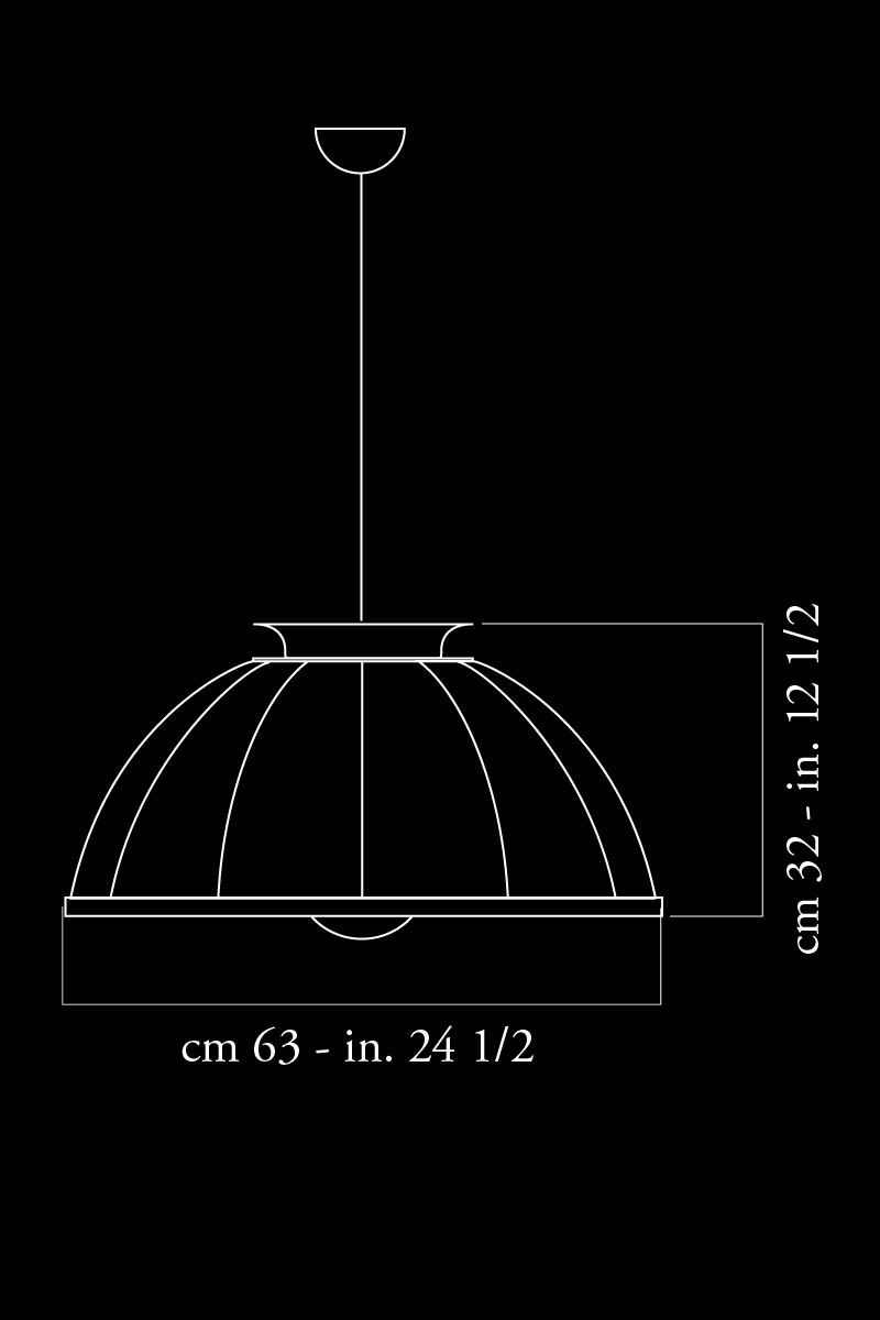 Lámpara suspendida Fortuny Cupola dimensiones