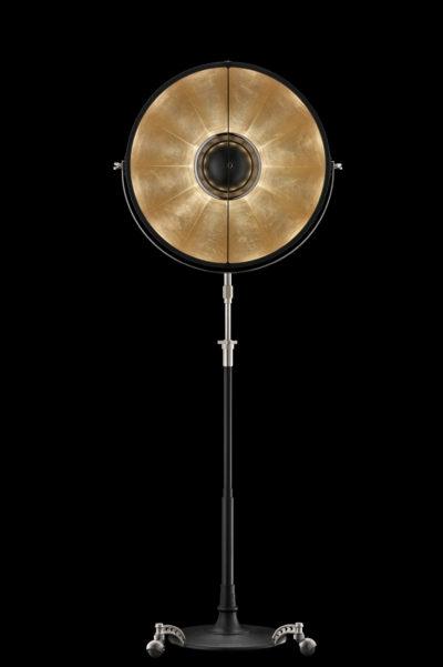 Lámpara de pie Fortuny Atelier 63 con pan de oro