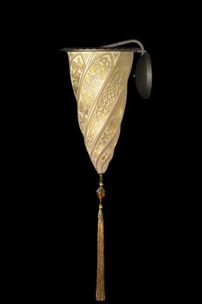 Lámpara de cristal Fortuny Cesendello aplique dorada