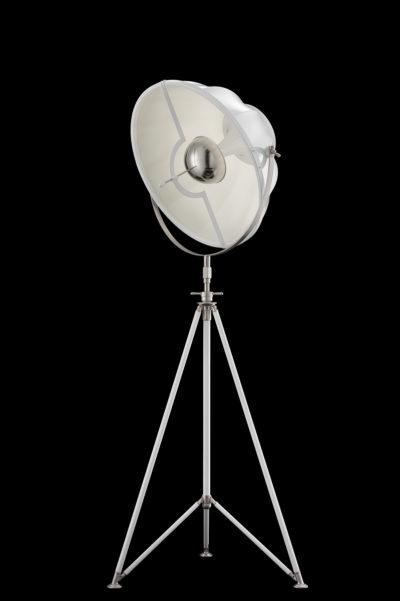Lámpara de pie Fortuny Studio 63 con trípode blanca