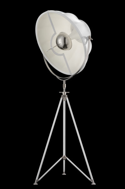 Lámpara de pie Fortuny Studio 76 con trípode blanca