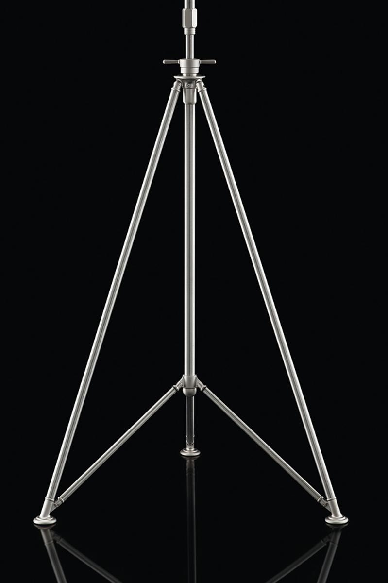 Lámpara de pie Fortuny Studio trípode de acero