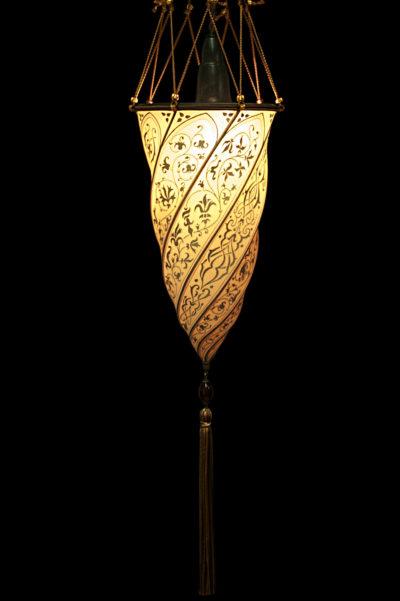 Lámpara de seda Fortuny Cesendello salmón