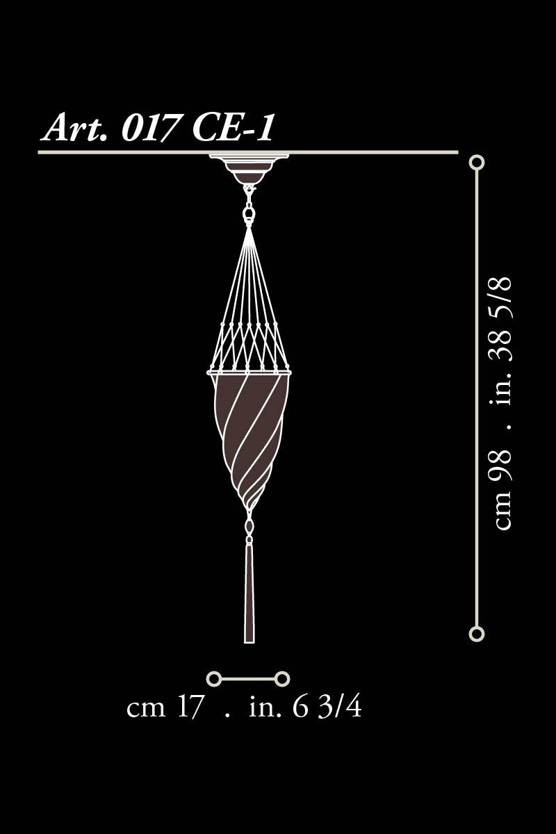 Lámpara Fortuny Cedendello de techo dimensiones