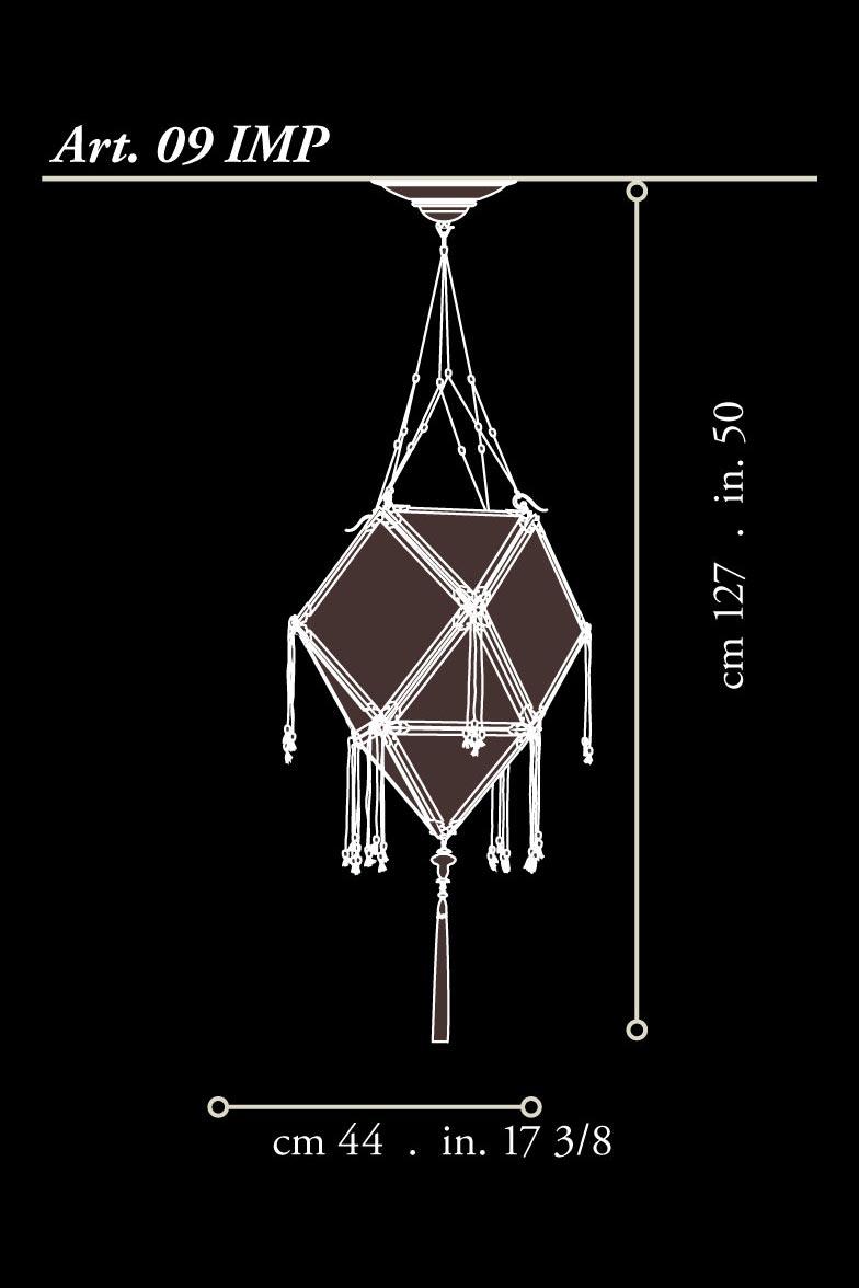 Lámpara de seda Concubine con estructura de madera dimensiones