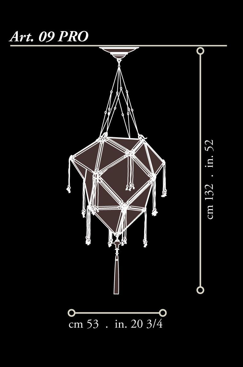 Lámpara de seda Fortuny Concubine Proibita dimensiones