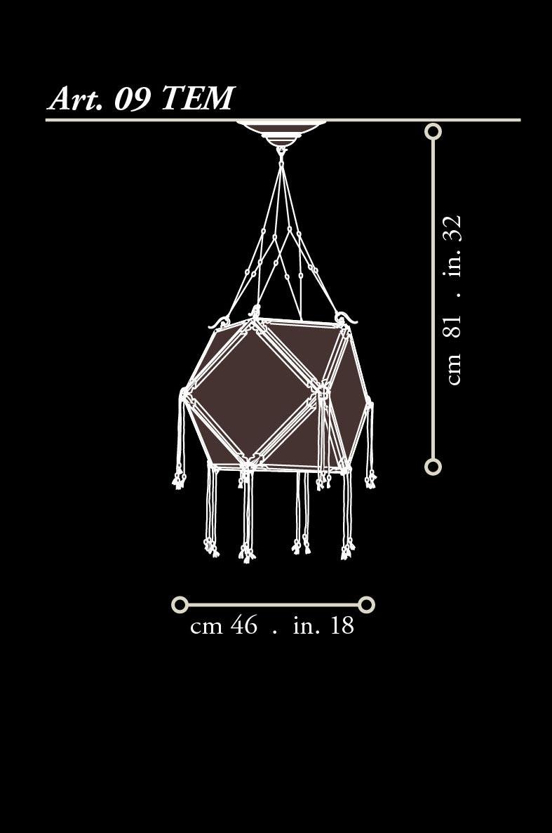 Lámpara de seda Concubine Tempio dimensiones