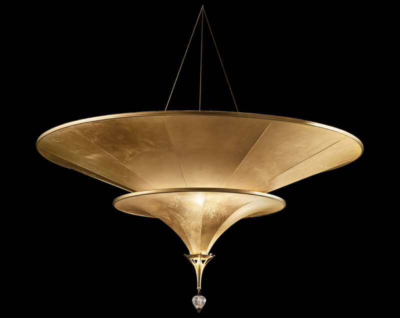 Fortuny Icaro 2 tiers suspended glass fibre lamp - flush mounted