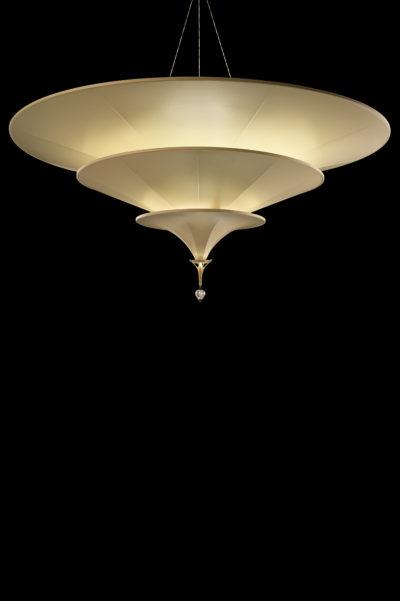 Fortuny Icaro lampara de fibra de vidrio de color marfil de 3 niveles