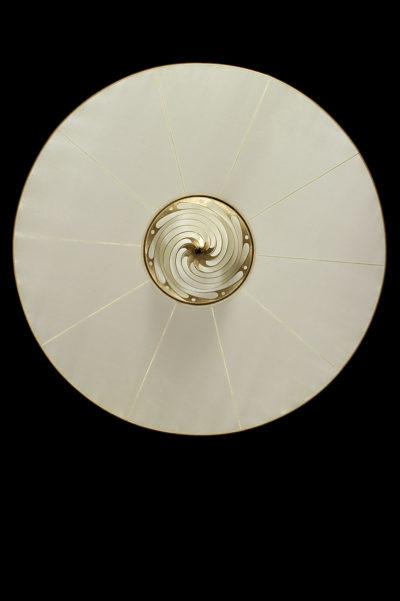 Lámpara Fortuny de seda lisa Samarkanda Plain con disco - vista inferior