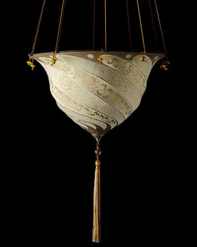 Fortuny Samarkanda Serpentina lámpara de seda
