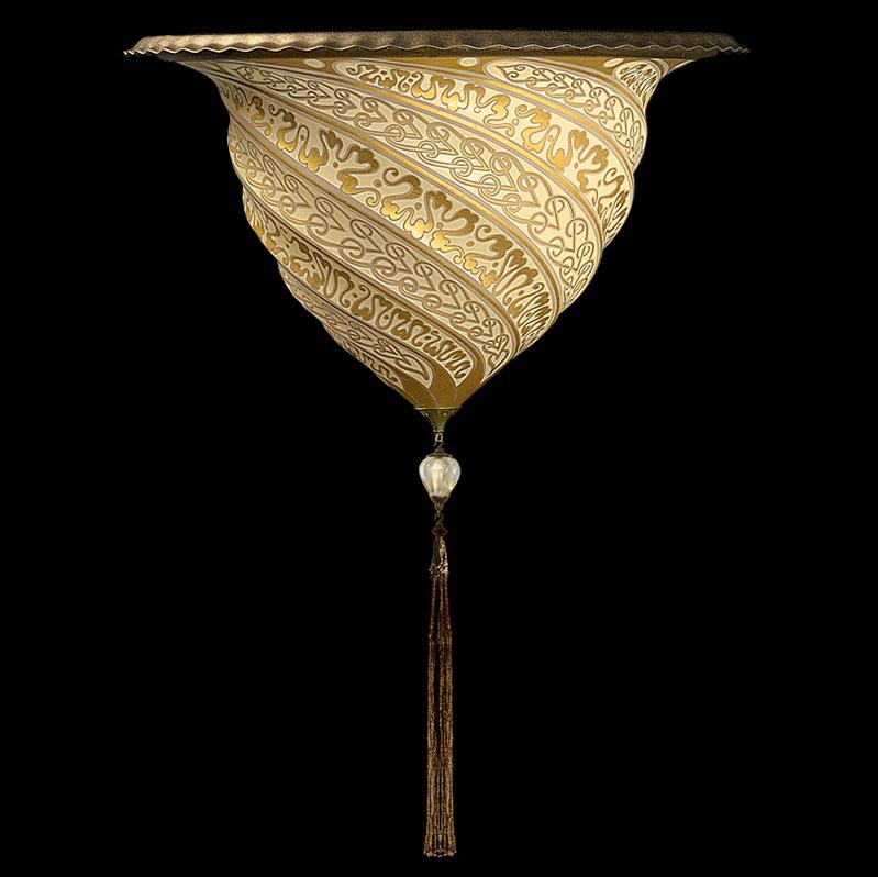 Lámpara Fortuny Samarkanda aplique de cristal dorado