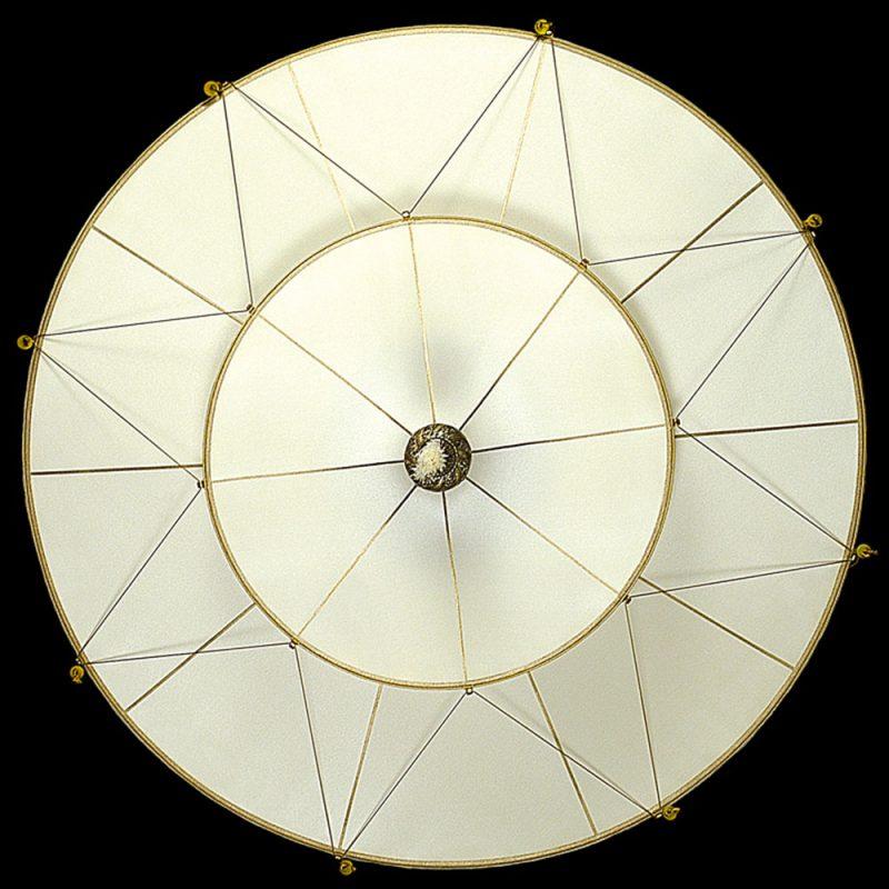 Scheherazade 2 niveles Lámpara Fortuny de seda de color liso diseño Plain - vista inferior