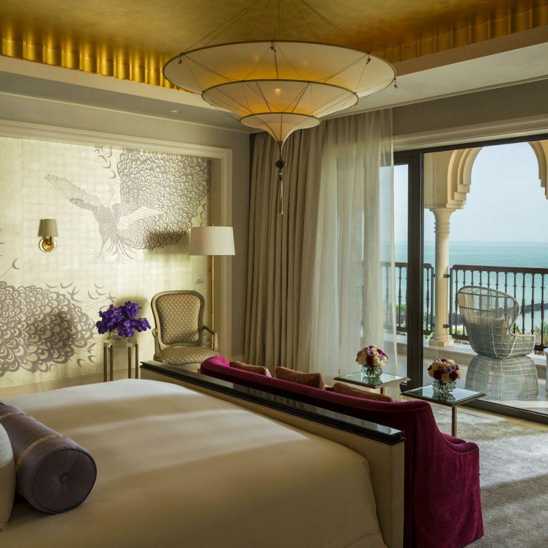 Scheherazade Fortuny 3 niveles Lámpara de seda de color liso diseño Plain - hotel