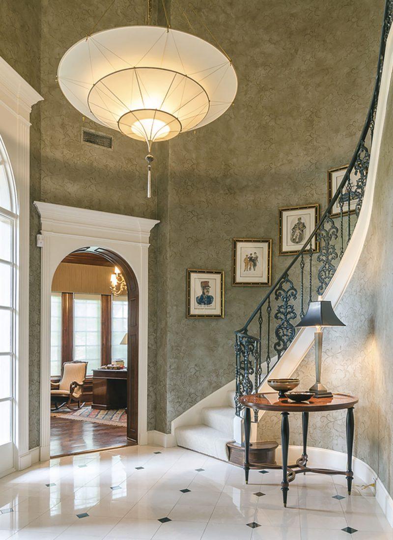 Scheherazade Fortuny 3 niveles Lámpara de seda de color liso diseño Plain - proyecto residencial