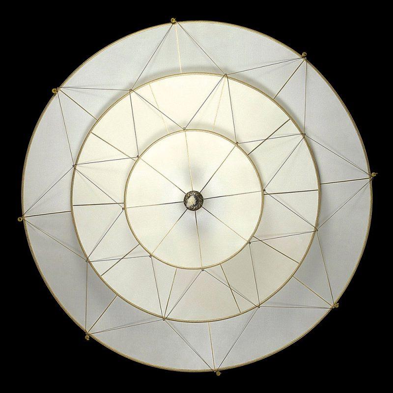Scheherazade Fortuny 3 niveles Lámpara de seda de color liso diseño Plain - vista inferior