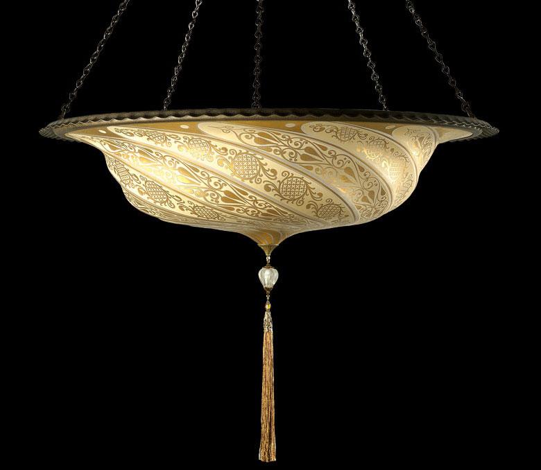 Lámpara de cristal Scudo Saraceno Classic dorada