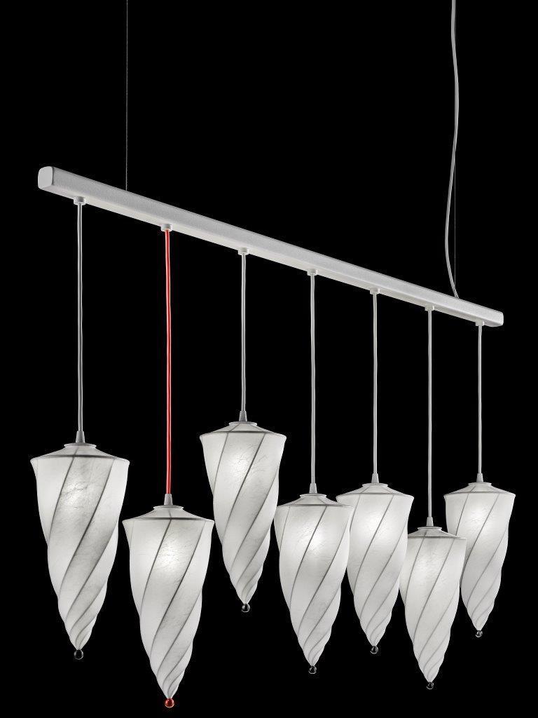 Lámpara blanca Cesendello Cocoon en barra