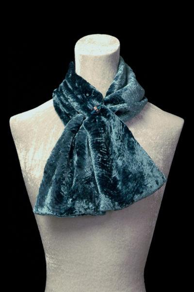 Pañuelos de terciopelo fruncido con cuentas de cristal de Murano