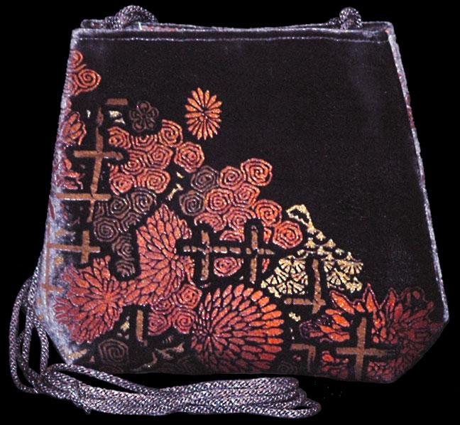Bolso Fortuny Gioia de terciopelo color berenjena