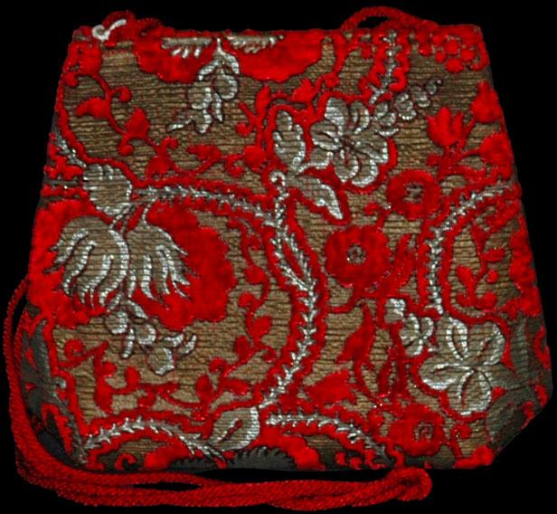 Bolso Fortuny Gioia Giudecca de terciopelo rojo