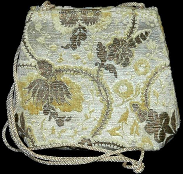 Bolso Fortuny Gioia Giudecca de terciopelo amarillo