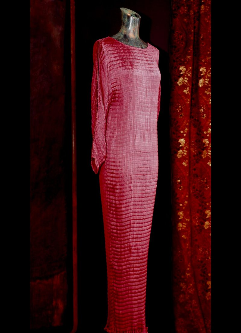 Vestido de Fortuny Delphos en el atelier