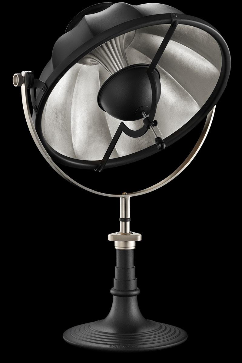 Lámpara de mesa Fortuny Armilla 41 negra y pan de plata