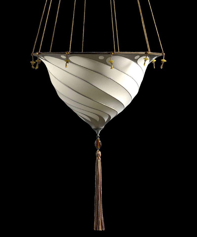 Lámpara de seda lisa Fortuny Samarkanda Plain