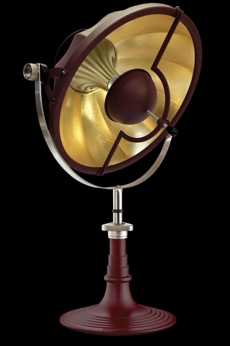 Lámpara de mesa Fortuny Armilla 41 rojo antiguo y pan de oro