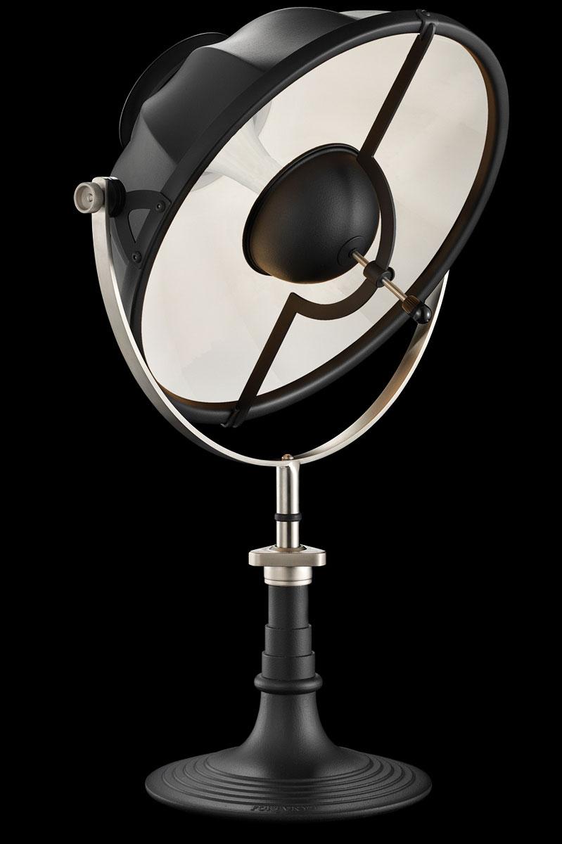 Lámpara de mesa Fortuny Armilla 41 blanca y negra