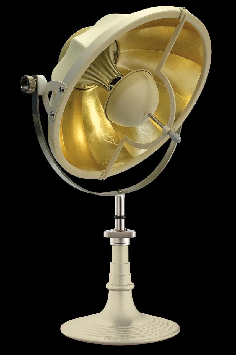 Lámpara de mesa Fortuny Armilla 41 cuarzo y pan de oro