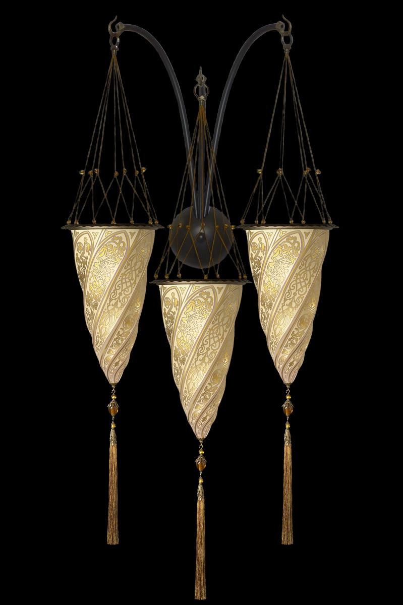 Cesendello de cristal de triple arco