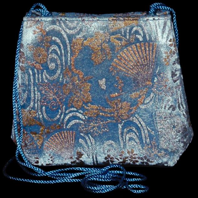 Bolso Fortuny Gioia de terciopelo azul claro