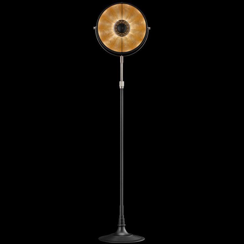 Lámpara de pie Fortuny Atelier 32 negro y oro