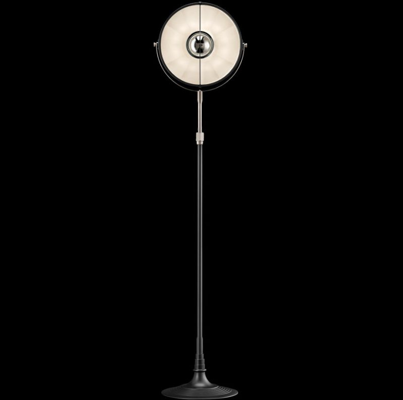 Lámpara de pie Fortuny Atelier 32 blanca y negra