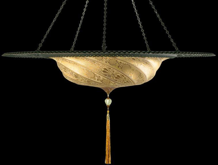 Scudo Saraceno de cristal con anillo metálico