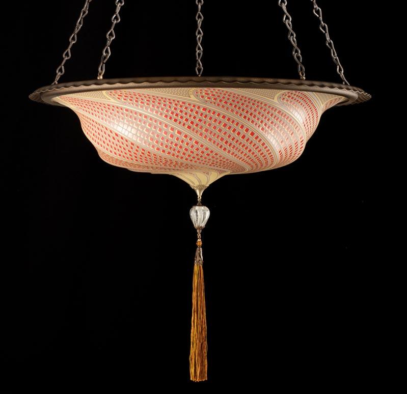 Fortuny Scudo Saraceno glass gold mosaic lamp
