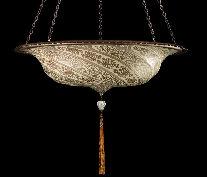 Fortuny Scudo Saraceno gold glass lamp