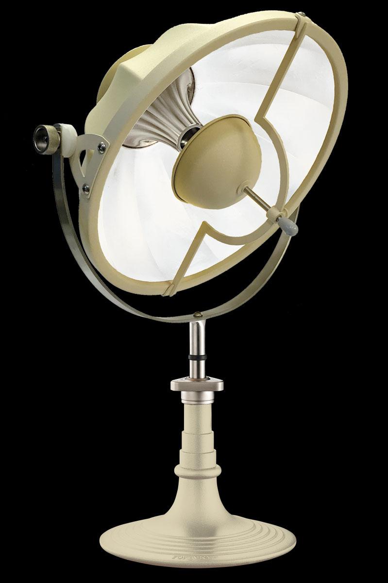 Lámpara de mesa Fortuny Armilla de color cuarzo y blanco