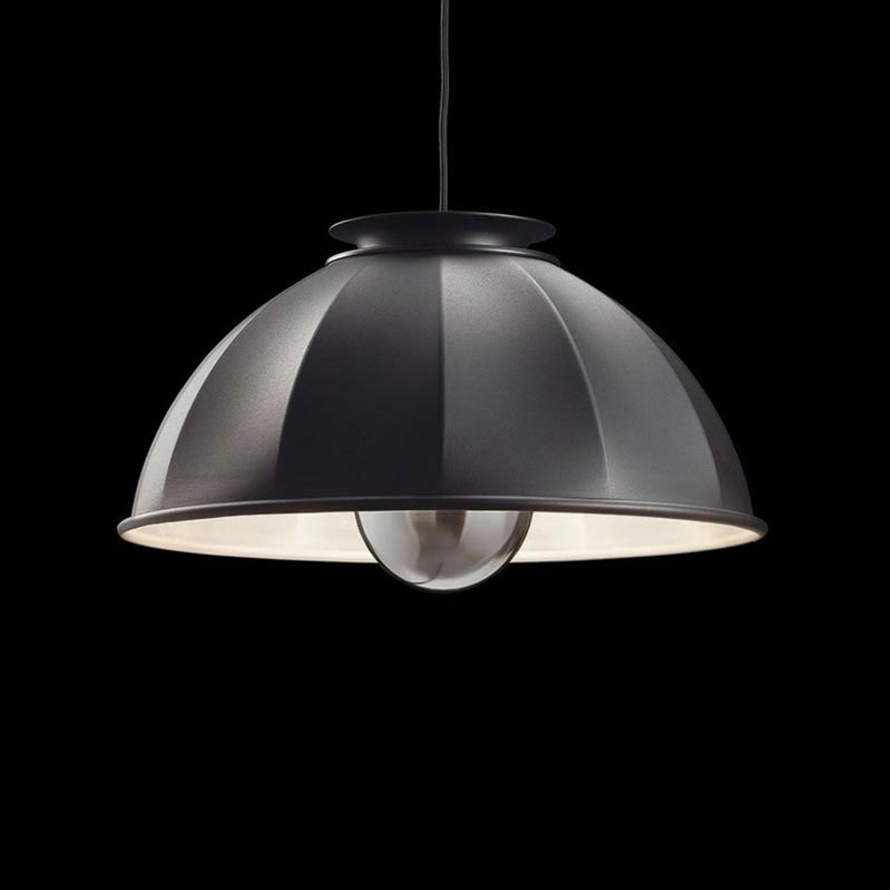 Fortuny Cupola ceiling lamp black and white