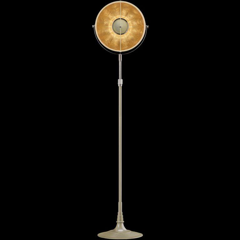 Lámpara de pie Fortuny Atelier 32 color de cuarzo y oro