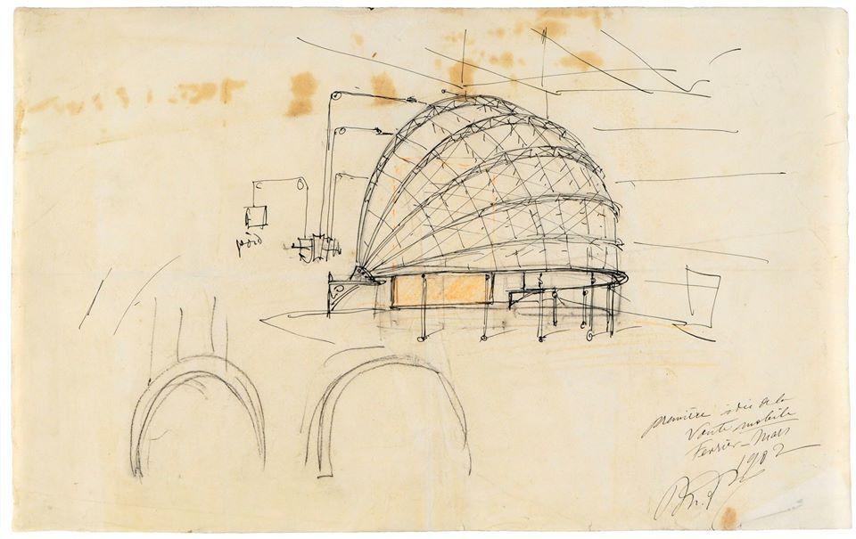 Un boceto de la cúpula de Mariano Fortuny
