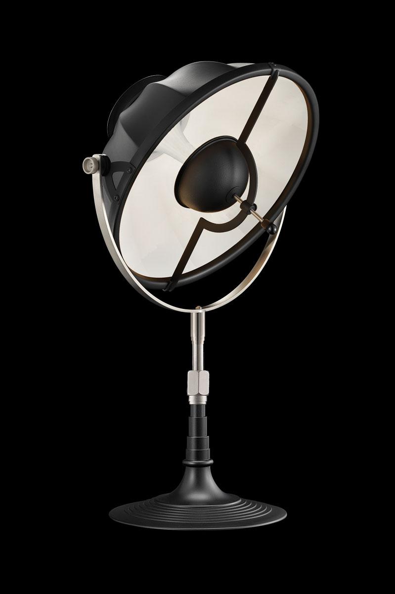 Lámpara de mesa Fortuny Armilla 32 blanca y negra