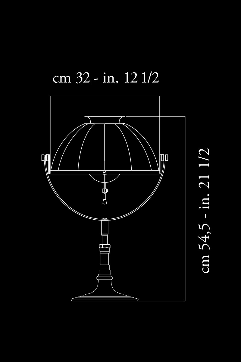 Lámpara de mesa Fortuny Armilla 32 dimensiones